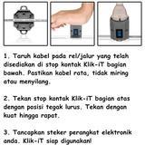 KLIK-IT Stop Kontak injeksi 1 Lubang [KLSS2] - Stop Kontak Out Bow